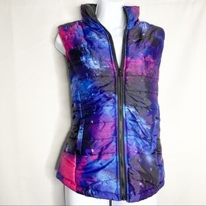 Rue 21 Milky Way galaxy puffer vest L